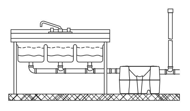 Схемы установки жироуловителя
