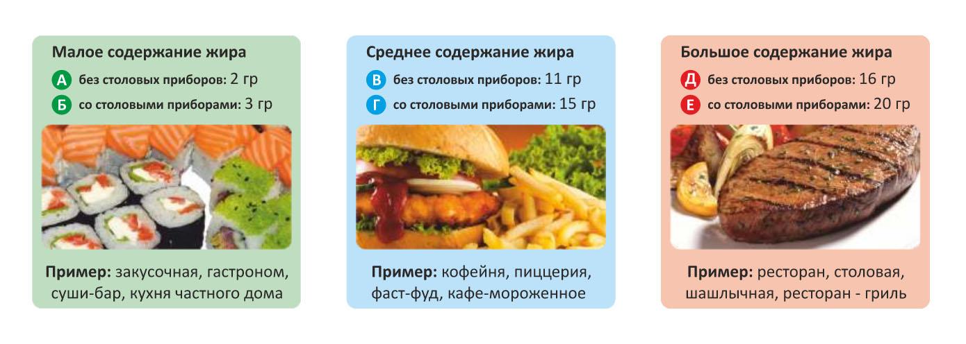 Схема для быстрого выбора необходимого жироуловителя